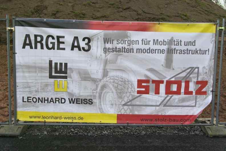 Stolz Bau autobahn a3 baustelle weibersbrunn